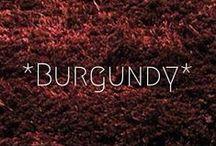 Burgundy/Marsala / by My Colourful World