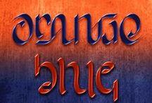 Blue & Copper/Orange / by My Colourful World