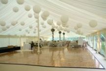 Wedding marquee interiors / Interiors of our wedding marquees