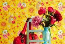 Brian Yates Pip Studio / Stunning shabby chic wallpapers, beautiful florals and animals wallpaper
