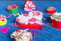 День всех Влюблённых / Идеи по оформлению подарков, открытки, поделки своими руками
