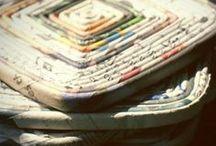 PAPER | repurposing | upcycling / Inspiracje na powtórne wykorzystanie niepotrzebnych papierowych przedmiotów. Gazet, książek, rolek po papierze, pudełek itp.