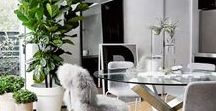 Botanical Inspired Dining Room Ideas / Green dining room interiors / Botanical dining room ideas / Designing dining rooms with plants