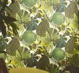 Brian Yates Wallpaper / Brian Yates wallpaper, designer wallpaper, funky wallpaper, wood effect wallpaper, botanical, green, colored
