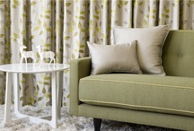 GREEN interiors and fabric / Green is a multi-faceted colour - it can add a bold statement to a room, or a different dimension in a neutral setting.