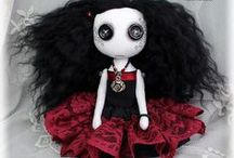 Gothic Art Dolls / OOAK Gothic art dolls made from cloth, clay and other materials by vegan artist Jo Hards