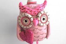 Owl..Pink..Colour / Baykuş ..Pembe.. Renk .. / Pink something