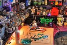 office space / #interior #office #artist #creative #studio