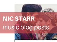 Nic Starr: My Music Blog Posts / Each week I post a music clip on my website (www.nicstarr.com) and because I'm an author of m/m romance, these clips are usually featuring equality themes, gay singers, or about love & sex. Enjoy!