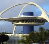 GOOGIE Architecture - futurist influenced by car culture, jets, Space and Atomic Age.