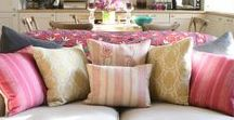 Cushions in Velvet, Linen & Stonewash / Soft furnishings instantly update any interior scheme and cushions are a brilliant way to add fresh, seasonal change to a room. Decorative cushions in seasonal prints are easily changed and covers can be stored for next year whilst you enjoy the new look in your home.