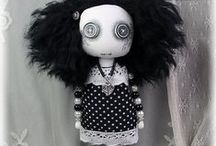 Beady Dolls / Miniature button eyed art dolls with beaded limbs. Ideal for hanging in caravans, motorhomes, RVs, narrowboats , or anywhere where space is at a premium.