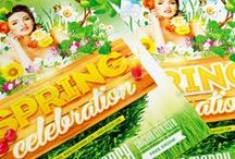 Spring Break Flyers Collection / This collection is perfect for announcement of your action devoted to celebrating of Spring break/Summer break & holidays/Easter celebration/Summer vacation or for a mainstream music event or any other event.  Check out this collection http://graphicriver.net/collections/4167918-spring-break-flyers-collection