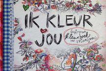 Me-made: Ik Kleur Jou / Inspirerend kleurboek voor volwassenen, gemaakt door Wilma Veen en ingekleurd door mij!