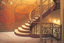 Art Nouveau staircases / Beautiful curves from Horta, Guimard, Gaudi and other art nouveau masters