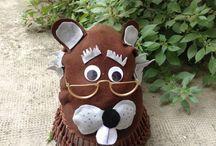 Cappello-maschere di feltro / Maschere create su cappelli con feltro