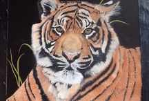 Original Art Work / Specialise in animal paintings,work in progress,on exhibition and for sale.