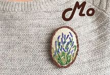 Embroidered brooch is my handmade / Hope Mo is a making of handmade #brooch #handmade #embroidery #handbrooch #embroideredbroch #handmadejapan #japan