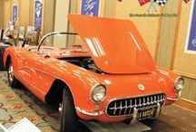 1957 Chevrolet Corvettes / Here are some beautiful classic 1965 Corvettes. Total Production = 6,339, All Convertibles.  This was the first year for Corvette to receive the optional fuel injection as well as optional 4-speed manual transmission.