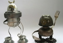 Junk Bots / One man's trash is another man's robot sculpture.