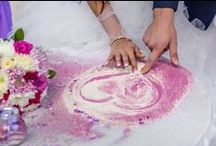 Sand Ceremony / Here there is some colorful photos showing how it could be fun to make the sand ceremony in your wedding day.