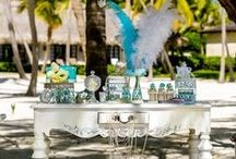 VIP Tiffany Wedding Style / #Destination_wedding in Punta Cana, private luxury residence Cap Cana with a gorgeous private beach. Photo by Nik Vacuum. Organization by www.wedding-caribbean.com