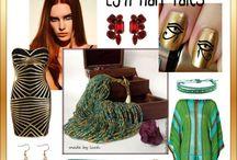 Inspiration for my handmade jewelry / С чем и как носить мою авторскую бижутерию