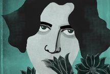 Oscar Wilde / Oscar Wilde and his books.