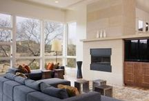 Natural Stone House Living Room / Natural Stone House Living Room