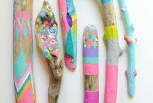 Pensado en madera / Objetos decorativos en madera reciclada.