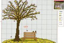 Trees - Cross-stitch