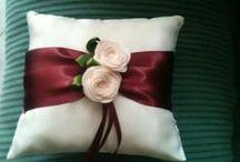 Amaral Ring Bearer Pillow /  Ring Bearer Pillow hand-picked