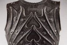 Knights // Breastplates / A collection of different breastplates.