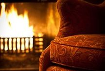 On A Winter Evening - By the fire