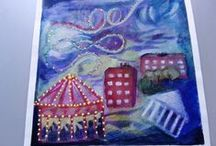 Peony and Parekeet's Art Courses work / Peony and Parakeet's INSPIROIDU PIIRTÄMISESTÄ 2015 Liberated Artist April 4 th - May 1 st 2016