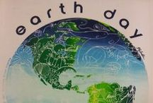 Retro Earth Day Designs in Action! / A collection of Weiskamp's Earth Day designs from 1981-1991, during all stages of the design process. Before computers and photoshop, everything was illustrated by hand and took a lot more effort!