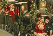 """Vintage Christmas Cards / """"May Christmas with its magic spell, make things happy and all well.""""  - Christmas Greeting"""