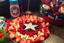 Party Ideas / Creative Ideas for Parties that cost less! Superhero Party I did for my three year old!