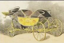 Old Time Transportation / Transportation from the 1700 and 1800s and includes everything from bicycles to carriages to omnibuses.