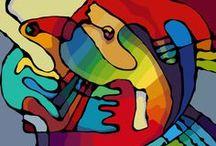 arte abstracto / manchas, formas, colores, todo abstracción!
