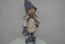 Winter Doll crochet / crocheting, Handmade