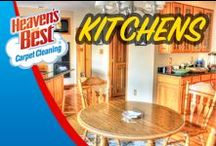 Creative Kitchens / Your kitchen becomes dirty from grease caused by food spills and ordinary, everyday traffic. Heaven's Best offers tile and grout cleaning for your kitchen, bathrooms, and entry ways. Manufacturers of tile and grout recommend that it should be cleaned and sealed every 2-3 years. Instead of getting on your hands and knees to clean the floor, let Heaven's Best clean it for you. Call on Brett Palmer in the Phoenix AZ area 623-670-0120