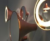 Sirens / Sirens by Trizo21 http://trizo21.com/product/sirens  SIRENS is a combination of mirrors and remarkable light fittings that captures your attention in a poetic way... and then holds it. The elegant silhouette is made of copper and is eye-catching in the room. This practical and aesthetic fitting combines mirrors and lighting in a decorative manner.