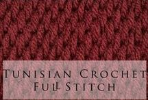 tunisian crocheting