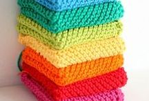 knitting/crochet doilys/cloths/potholders