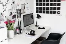 + Home Office Goals / Inspiration for entrepreneurs for their home office spaces! Be a boss. Own an empire. Do the work.