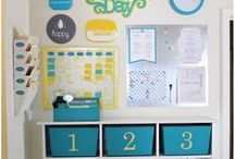Organize at Home / Message centres and organizing tips for school paperwork, notes and artwork