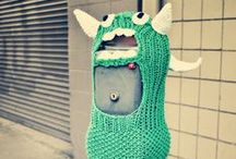Yarn Bombed by Four Purls Yarn Shop / What is your favorite yarn bomb? Here's a few of ours!