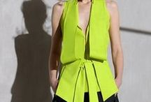In the Limelight / This bold, fun color story is perfect for Spring 2015. Mixing the classic black and white palette with Luscious Lime makes it daring, fresh and exotic.