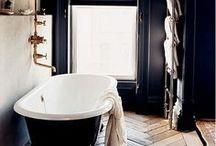 MATTE BLACK: A curation of deep, dark, inky black interiors. / Minimal monochrome home decor.